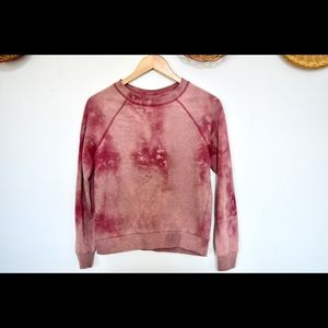 H&M Sweaters - 3/$25 H&M Bleach Dyed Red Crewneck Pullover